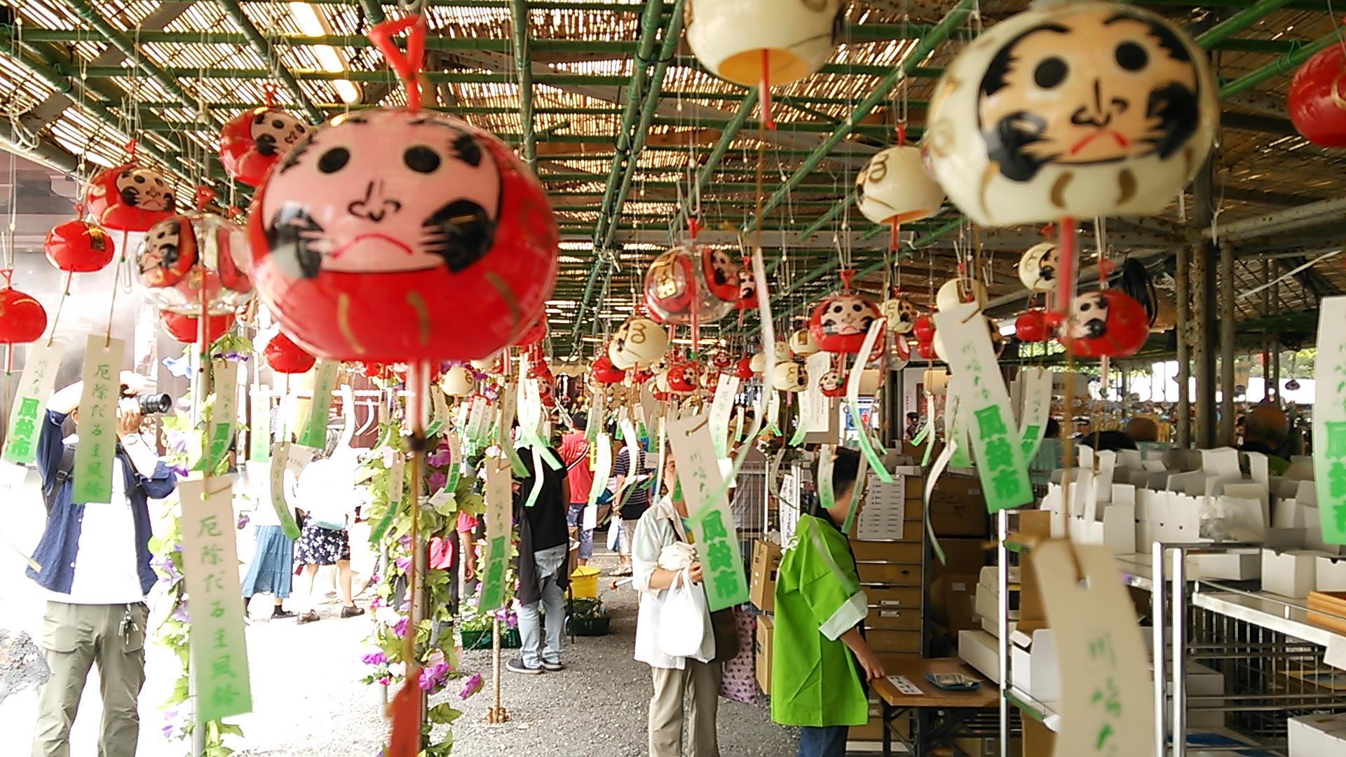 全国から30,000個の風鈴が集う「川崎大師風鈴市」 イメージ